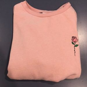 Pink rose H&M sweatshirt